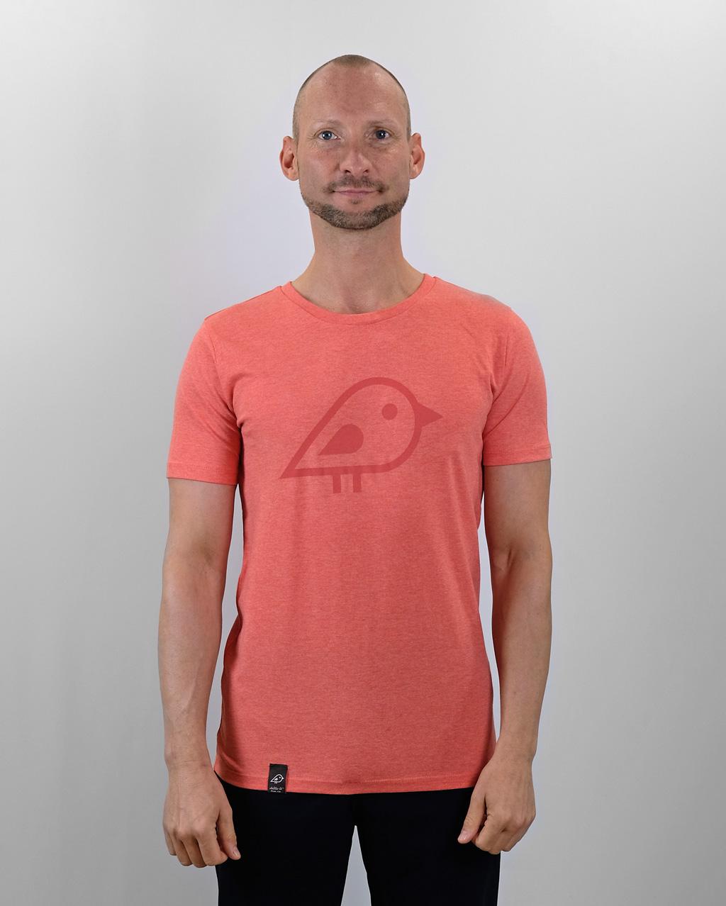 Camiseta bird coral