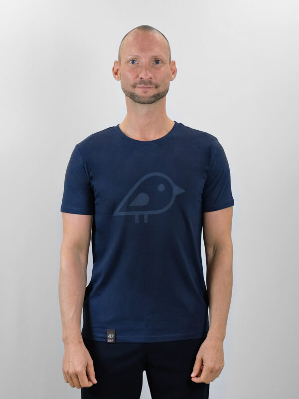 Camiseta bird navy