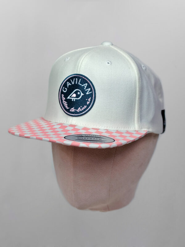 Cap Check Rosa white