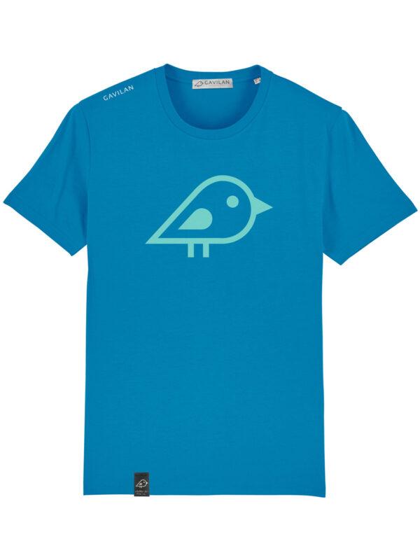Camiseta bird blue clean