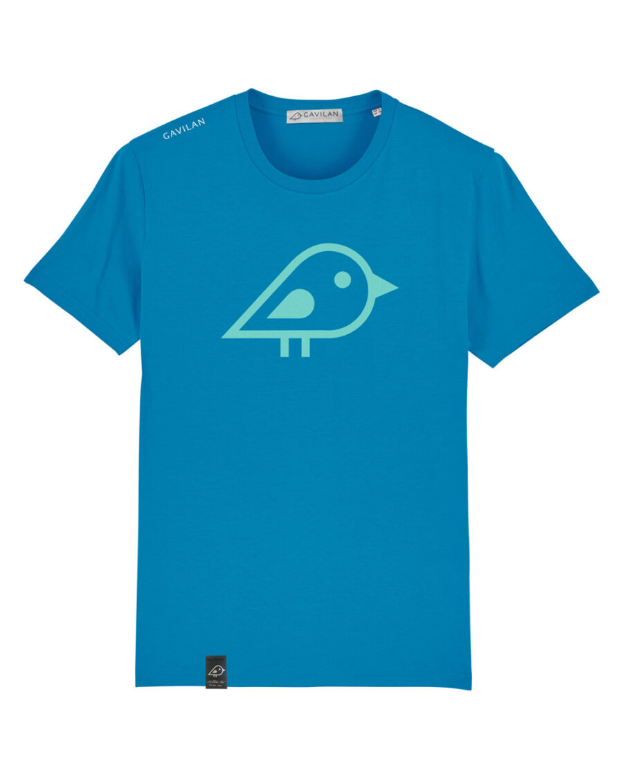 Camiseta bird blue clean