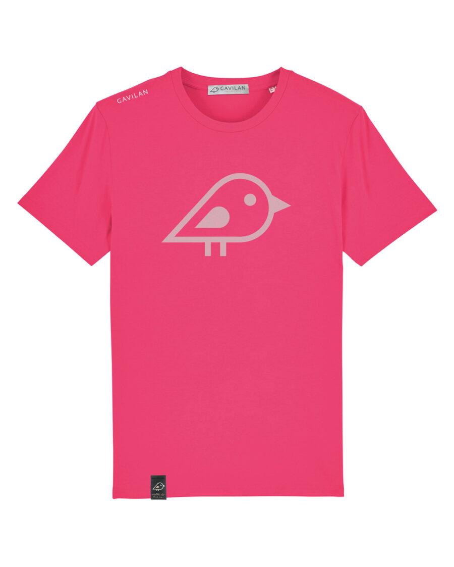 Camiseta bird pink clean