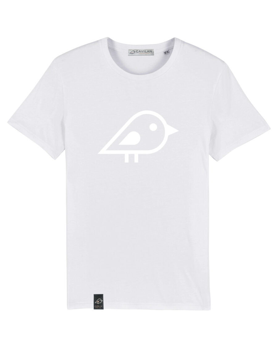 Camiseta bird white clean