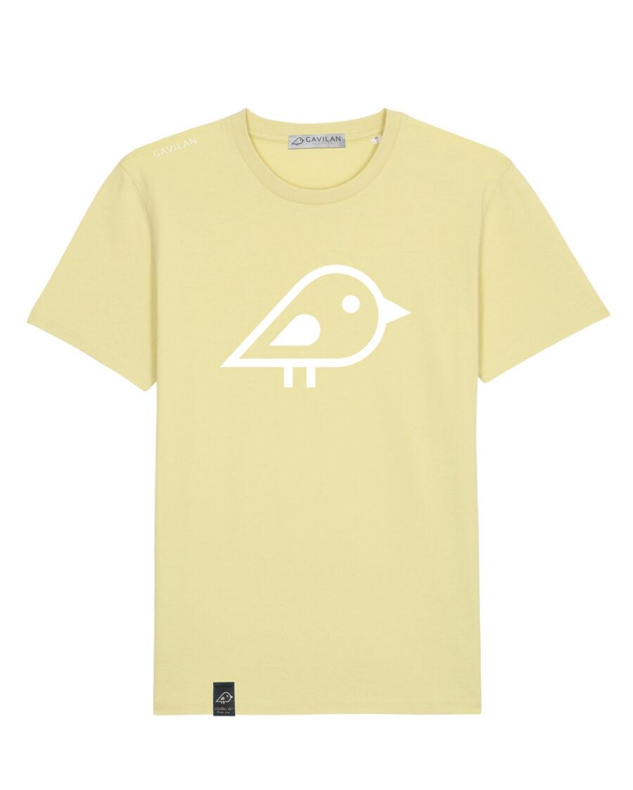 Camiseta bird yellow clean