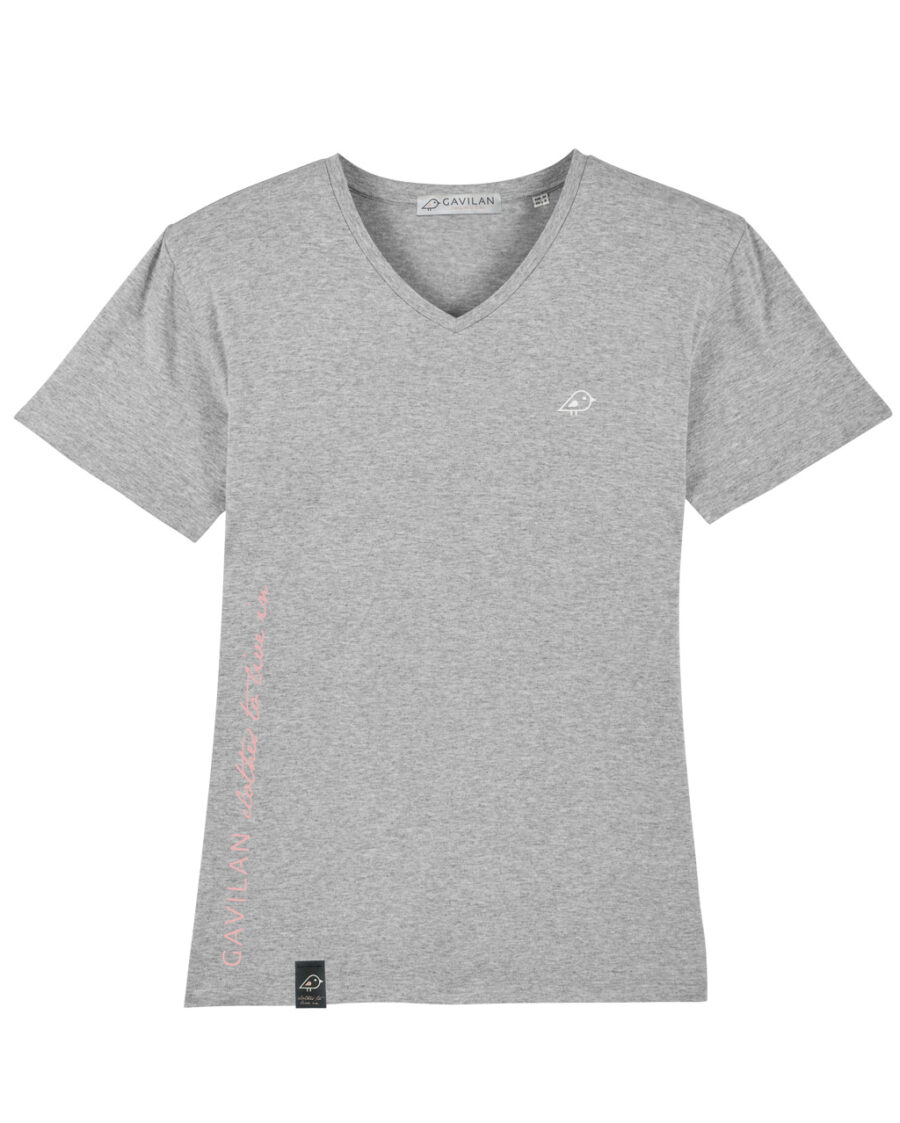 Camiseta vneck gris clean