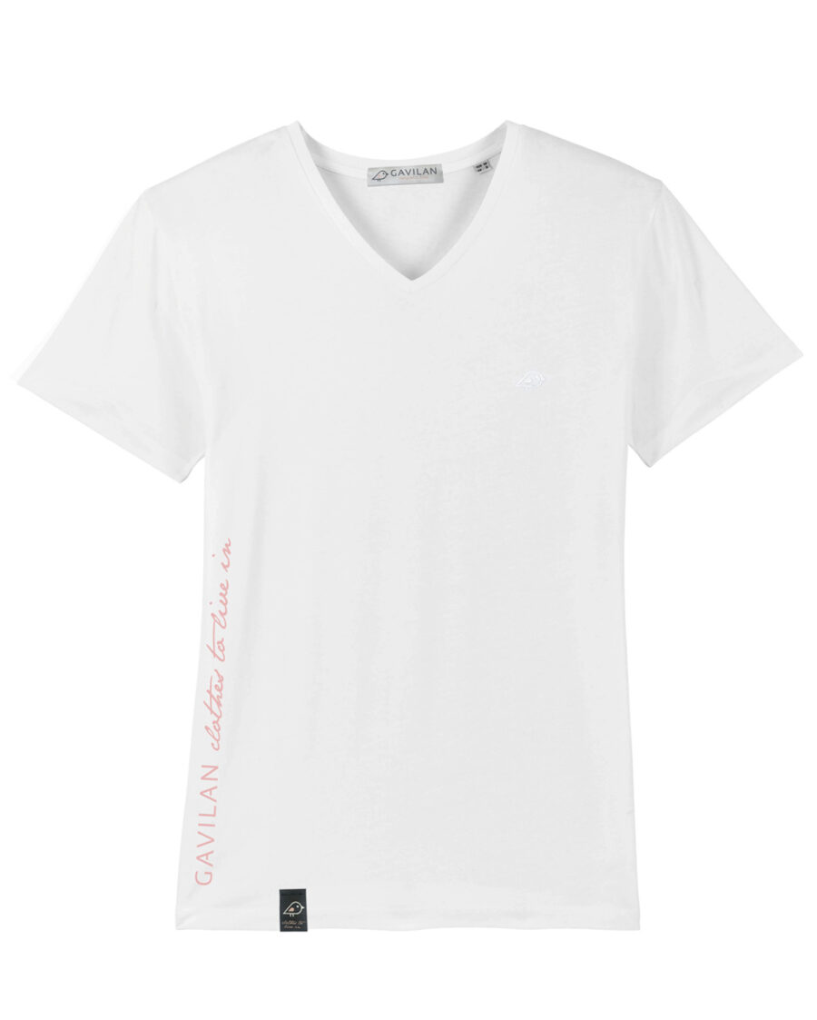 Camiseta vneck white clean