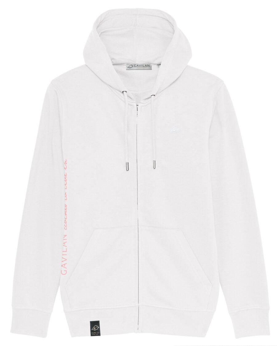 Hoodie Jacket white clean